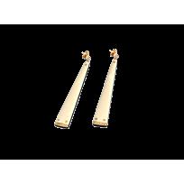 Σκουλαρίκια από mammoth & έβενο συνδυασμένα με brilliants Ebony Collection